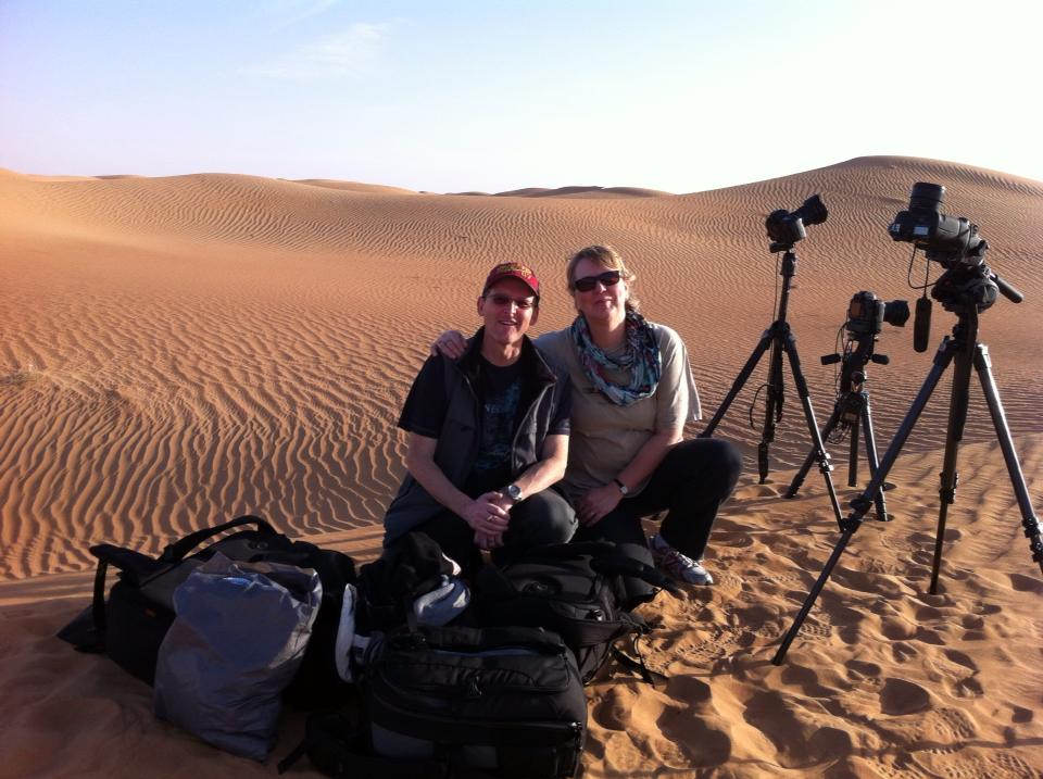 geoff and liz in desert